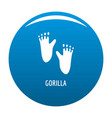 gorilla step icon blue vector image