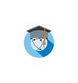 graduation hat education logo vector image vector image
