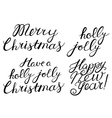 Hand drawn Cristmas lettering set vector image vector image