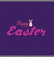 happy easter greeting design vector image