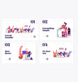 home quarantine landing page template set vector image vector image