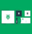 inspirational green cannabis design with business vector image vector image