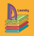 iron clothes electric laundry service vector image