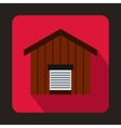 Large barn icon flat style vector image vector image