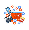 live stream banner template vector image