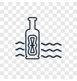 message in a bottle concept linear icon isolated vector image
