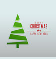 minimal style chstrimas tree design greeting vector image vector image
