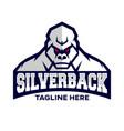 modern silverback gorilla mascot logo vector image vector image