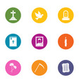 mors icons set flat style vector image vector image