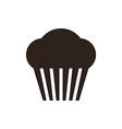 Muffin Cupcake icon vector image vector image