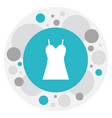 of trade symbol on dress icon vector image vector image