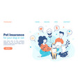 pet insurance family concept with beloved dog vector image