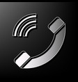 phone sign gray 3d printed vector image vector image
