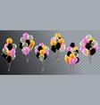 realistic celebration balloons helium birthday vector image vector image