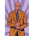 Retro African American businessman in elegant suit vector image vector image