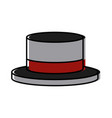ribbon men hat vector image vector image