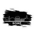 rome skyline silhouette hand drawn sketch vector image