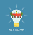 Room Ideas for a Dining Room vector image vector image