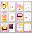 set abstract bright background for flyer vector image vector image