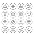 set round line icons of travel vector image vector image