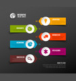 simple timeline template with icons vector image vector image