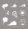 smoke set special effects template cartoon vector image