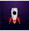 space rocket creative idea rocket background vector image