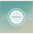 Spring old-fashion label vector image vector image