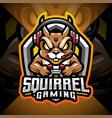 squirrel gaming esport mascot logo design vector image vector image