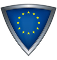 steel shield with flag european union vector image