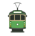 vintage tram flat style vector image vector image