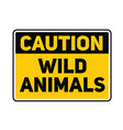wild animals sign vector image