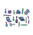 womans item stuff for beauty fashion makeup vector image