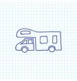 of travel symbol on camper vector image