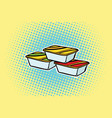 packing fast food sauce vector image