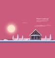 winter sunrise landscape vector image