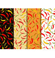 chili pepper seamless pattern set of backgrounds vector image