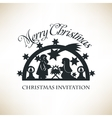 Simple Nativity scene Christmas invitation vector image