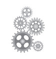 set of different sized gears vector image
