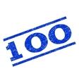 100 Watermark Stamp vector image vector image