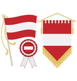 austria flags vector image vector image