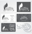 beauty salon business card templates with vector image vector image
