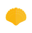 big shell icon flat style vector image vector image
