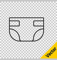 black line baabsorbent diaper icon isolated on vector image vector image