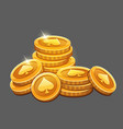 bunch of gold coins icon vector image vector image