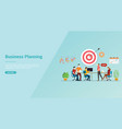 business planning strategy meeting team for vector image vector image