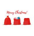 cartoon gift sacks bags of santa claus vector image vector image