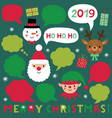 christmas characters and speech bubbles vector image vector image