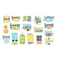 collection of summer sale calligraphic lettering vector image