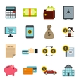 Credit icons set flat style vector image